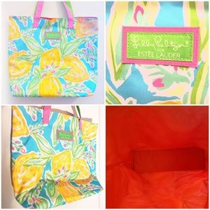 Lilly Pulitzer for Estee lauder summer bag.
